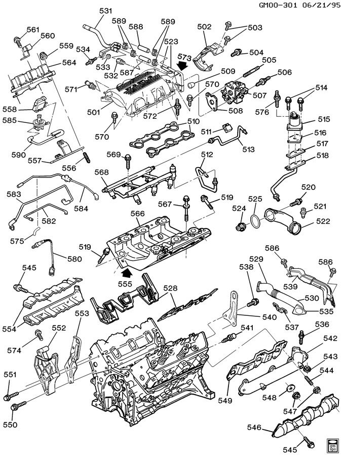 1991 Chevrolet Cavalier ENGINE ASM-3.1L V6 PART 5