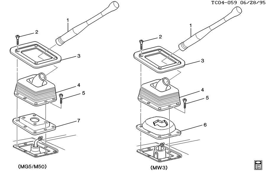 Chevrolet K2500 Insulator. Transmission control lever