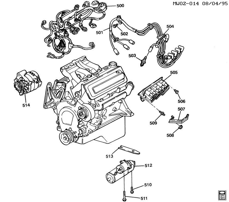 1997 Chevrolet Lumina ENGINE ELECTRICAL
