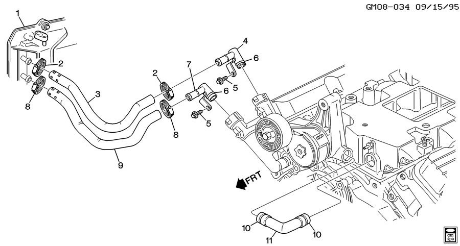 Pontiac Bonneville Adapter. Heater. Tensionerwseal, pipeat