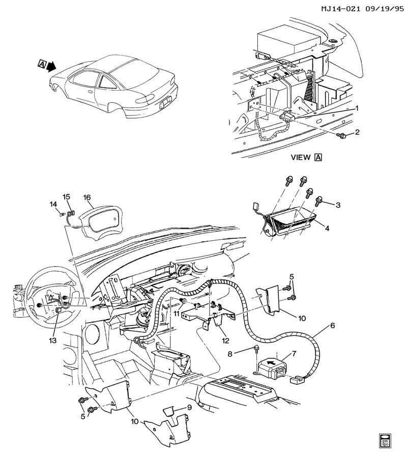 Chevrolet Cavalier Coil kit. Inflatable restraint system