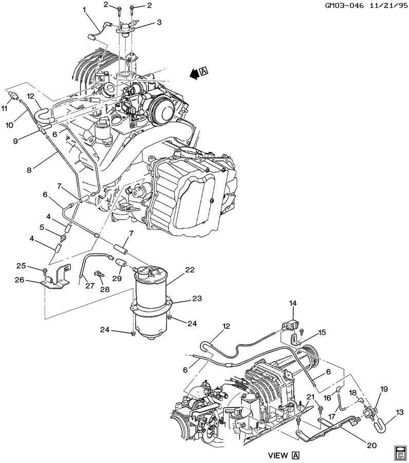 Buick Park Avenue Connector. Transmission vacuum (pack of