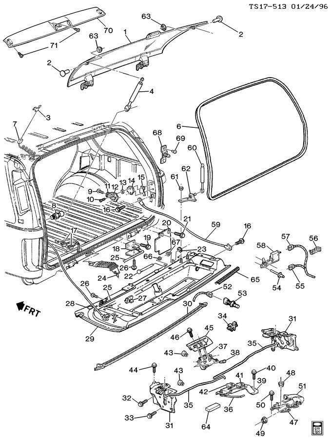 Chevrolet S10 Clip. Rod. Retainer. Lock. (Front, Rear). 2