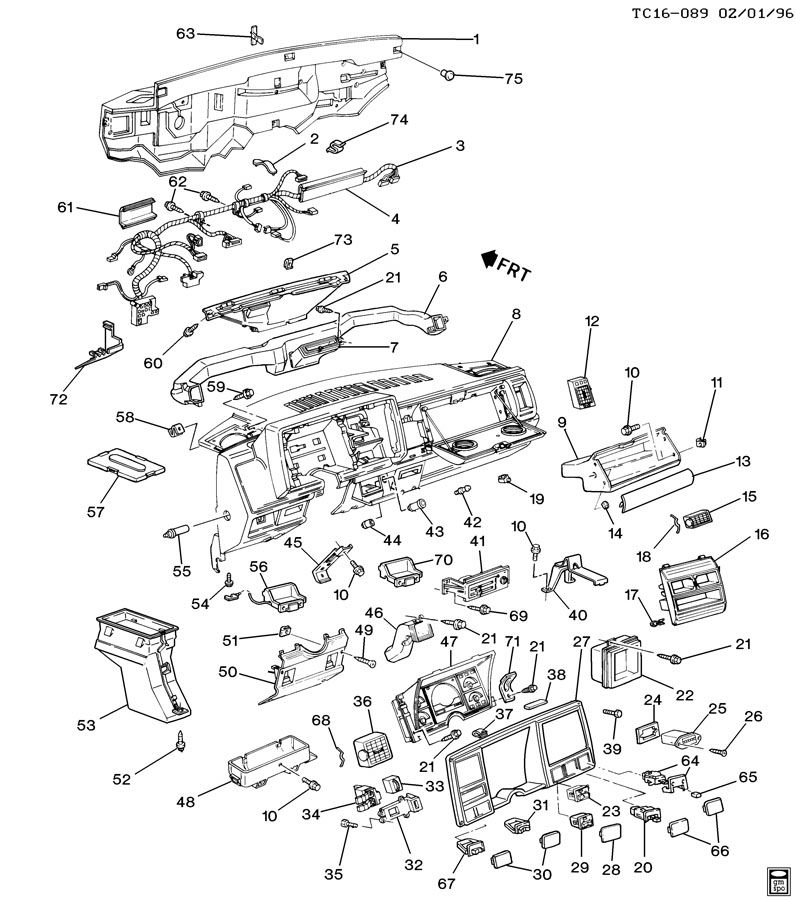 Chevrolet K1500 INSTRUMENT PANEL & RELATED PARTS PART 1