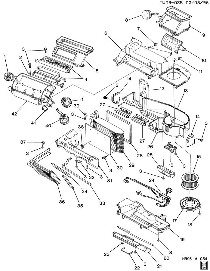 Chevrolet Monte Carlo Actuator. Air conditioning (a/c
