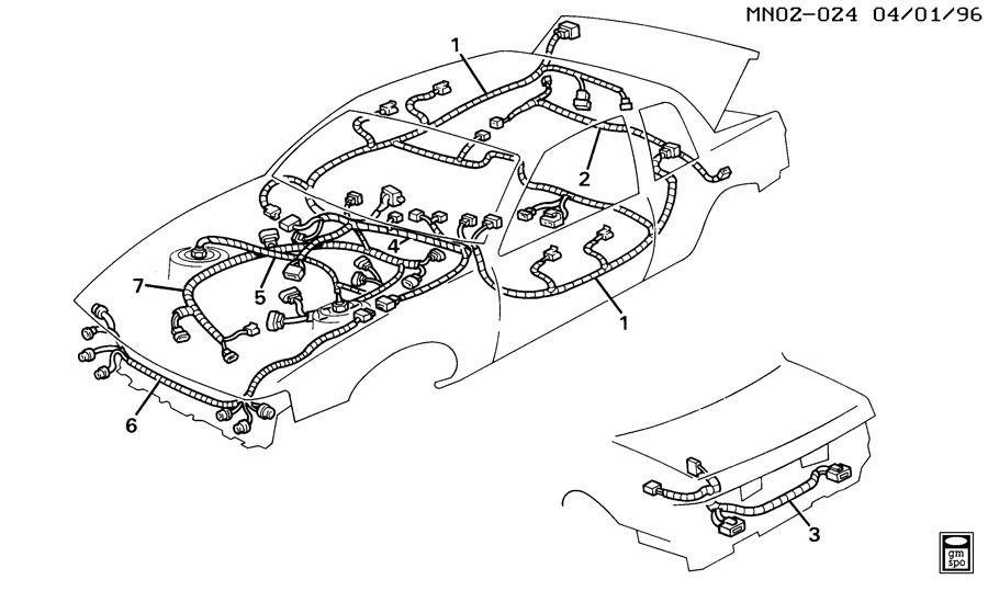 Buick Skylark Harness. Chassis wiring. Engine wiring