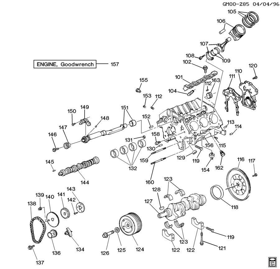 Buick Regal Crankshaft. Engine. Crankshaftmchg, wbwfws