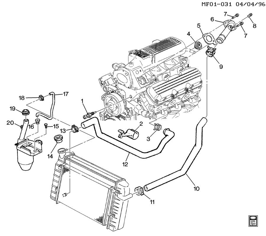 1998 Chevrolet Camaro Z28 2DR Reservoir. Engine coolant