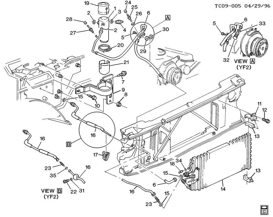 1994 Chevrolet C1500 Hose. Air conditioning (a/c