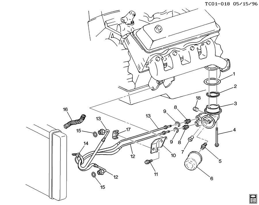 2000 Chevrolet K2500 Adapter. Engine oil filter. Adapter