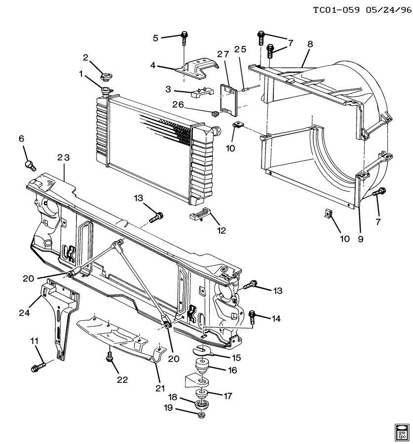 Chevrolet C2500 Radiator Mount Bracket. 4.3 LITER. 5.0 & 5