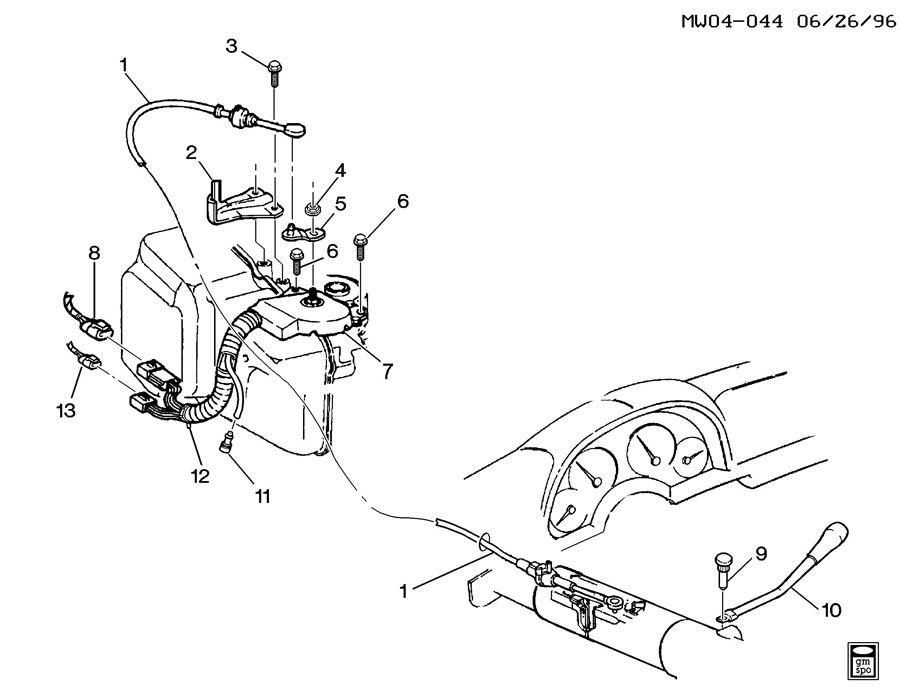 Pontiac Grand Prix Cable. Transmission shift control cable