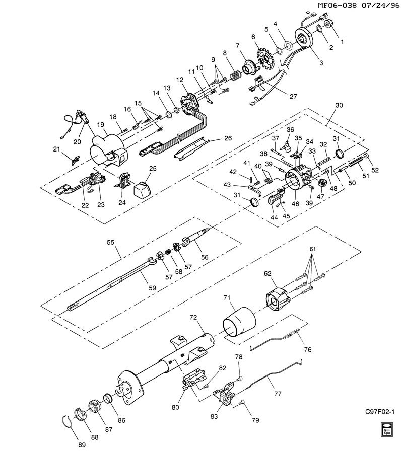 Service manual [2005 Ford E250 Tilt Steering Lever Repair