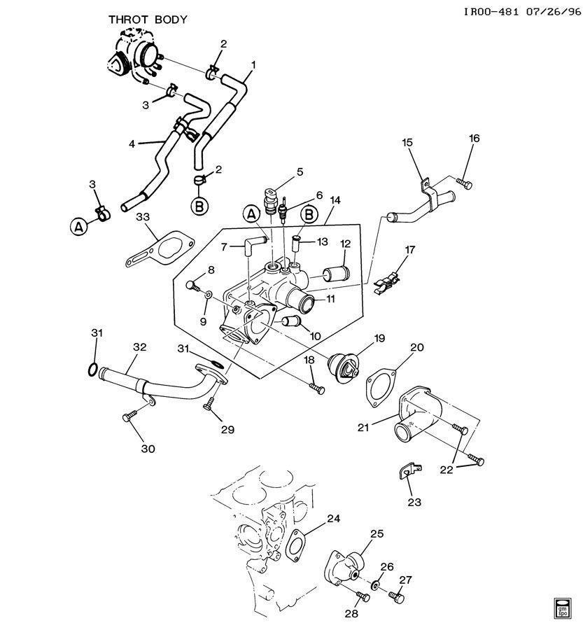 GMC C4500 Clamp. Fuel line. Throttle body coolant supply