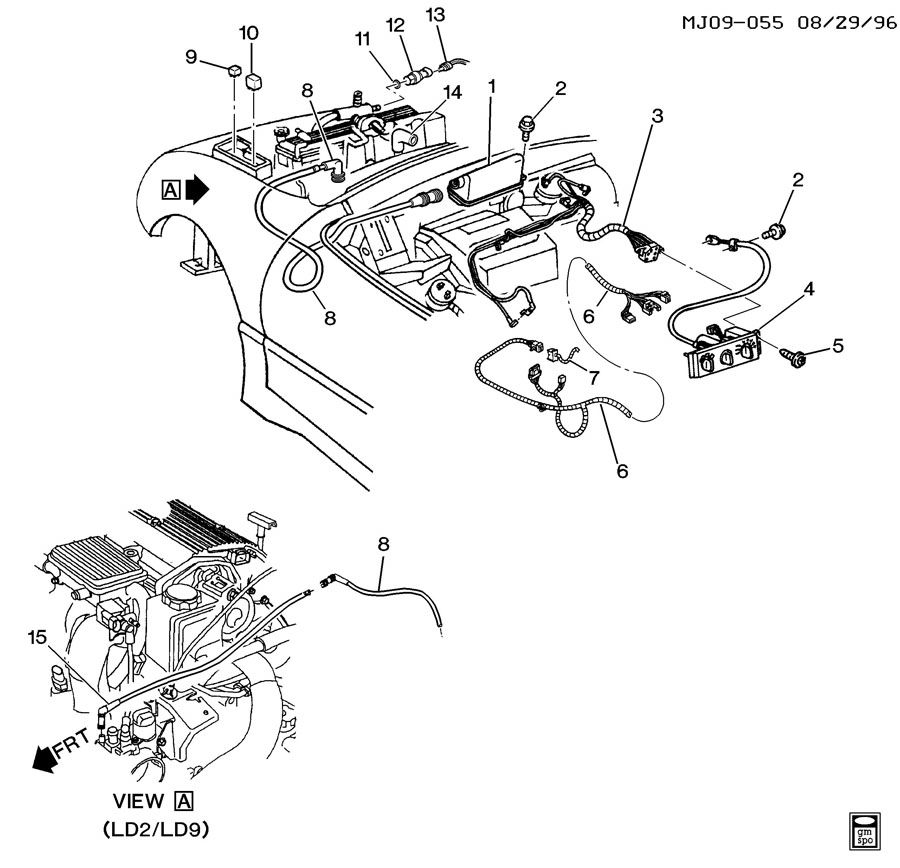 Chevrolet Cavalier Control. Heater and air conditioning (a