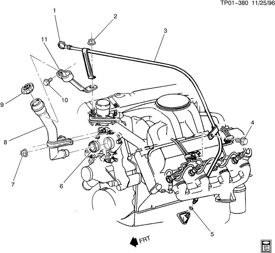 Chevrolet P30 ENGINE OIL LEVEL INDICATOR & FILLER TUBE