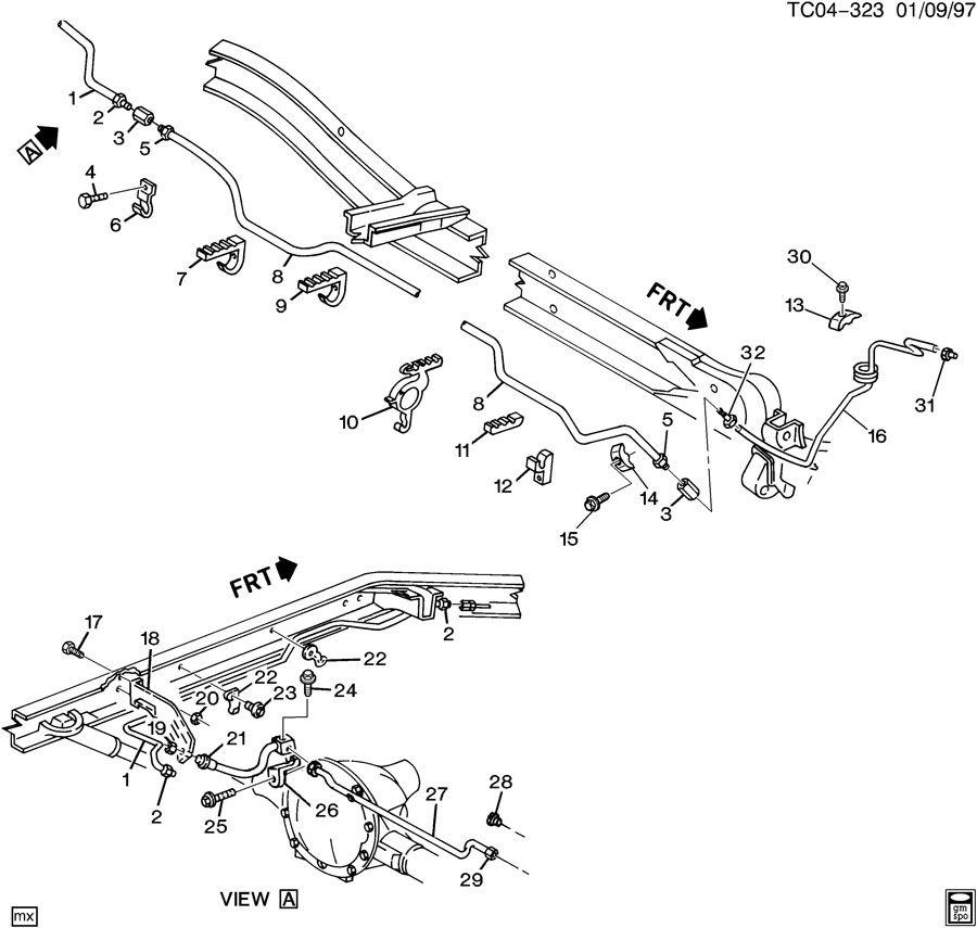 Chevrolet BLAZER Hose. Hydraulic brake. Brkwrecker