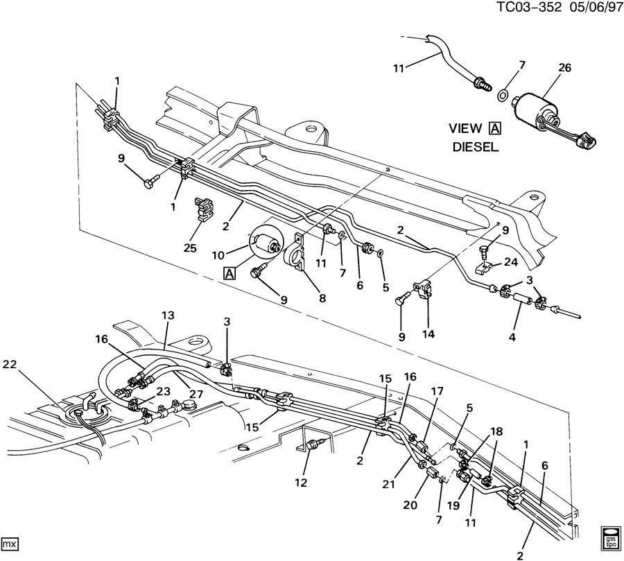 31 gm engine fuel line diagram