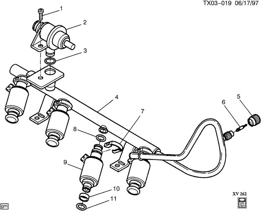 1999 Chevrolet BLAZER Fuel Injector. Fuel Injector