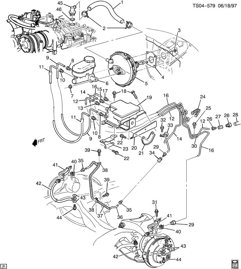 Chevrolet S10 Fitting. Vacuum power brake. Fitting, p/b