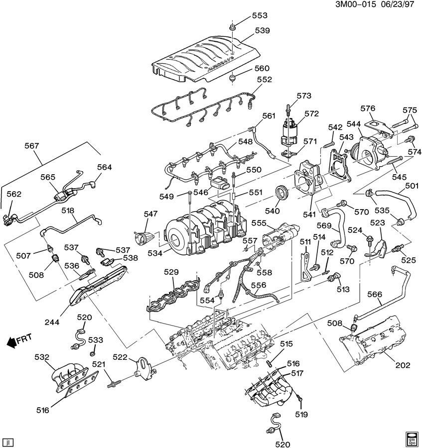 Chevrolet S10 Gasket. Emission system. Valveacdelco