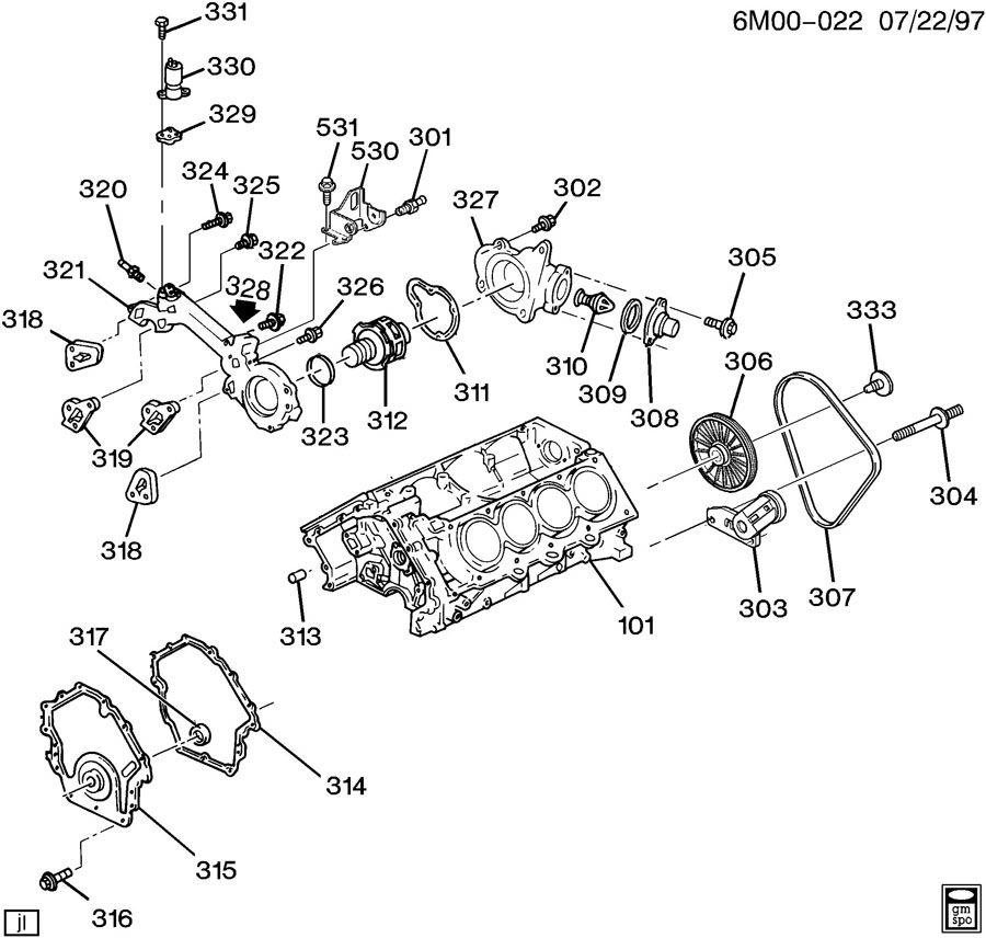 ENGINE ASM-4.6L V8 PART 3 FRONT COVER & COOLING