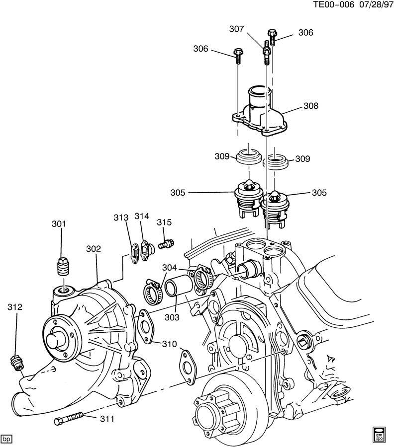 gm 308 engine diagram