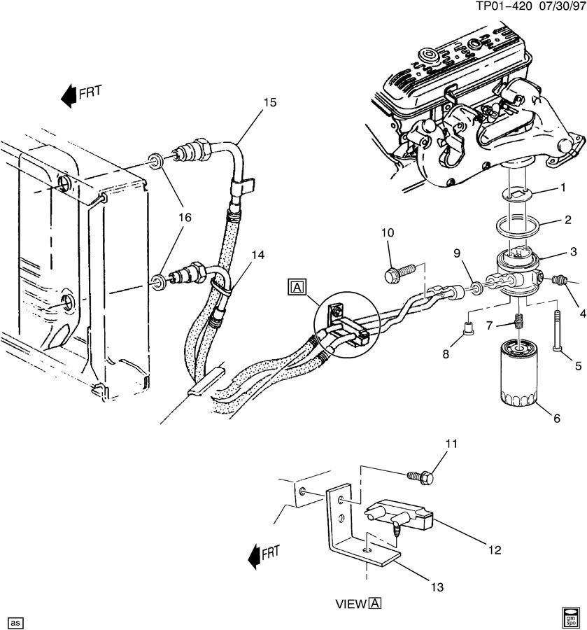Chevrolet P30 ENGINE OIL COOLER LINES