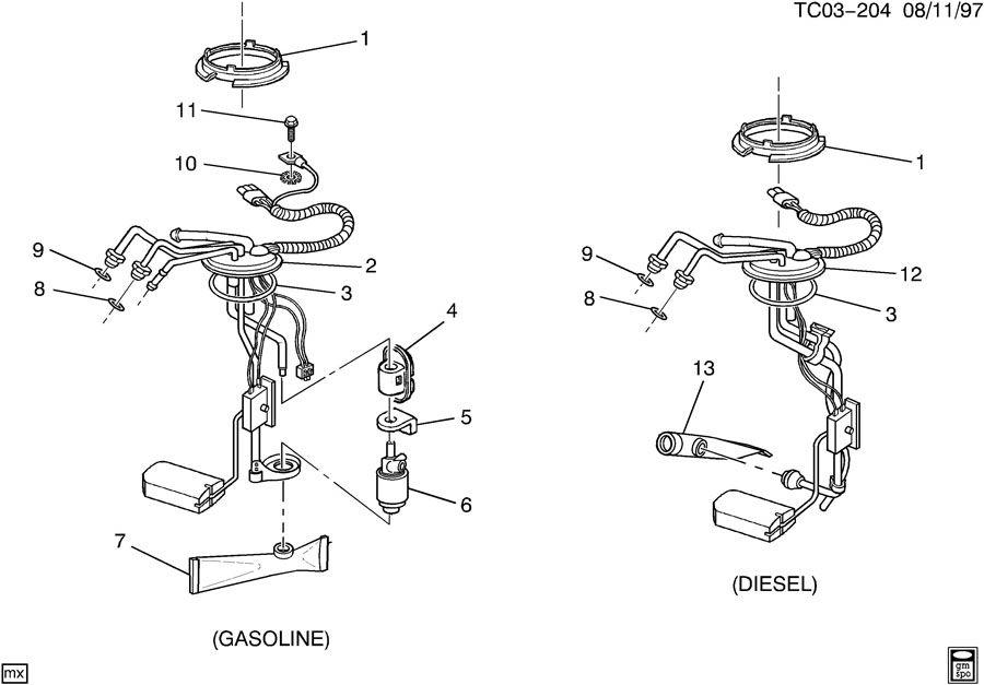 1996 Chevrolet C3500 Sender kit. Fuel tank meter/pump