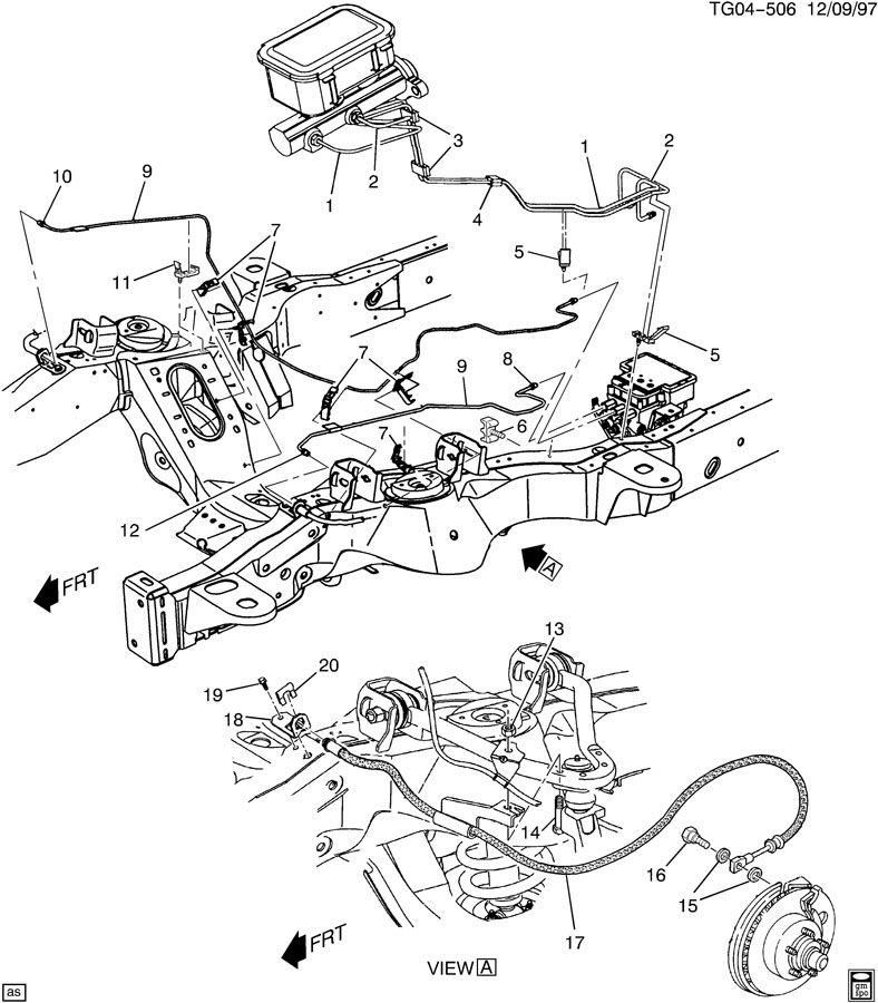 Service manual [2012 Gmc Savana Diagram Showing Brake Line