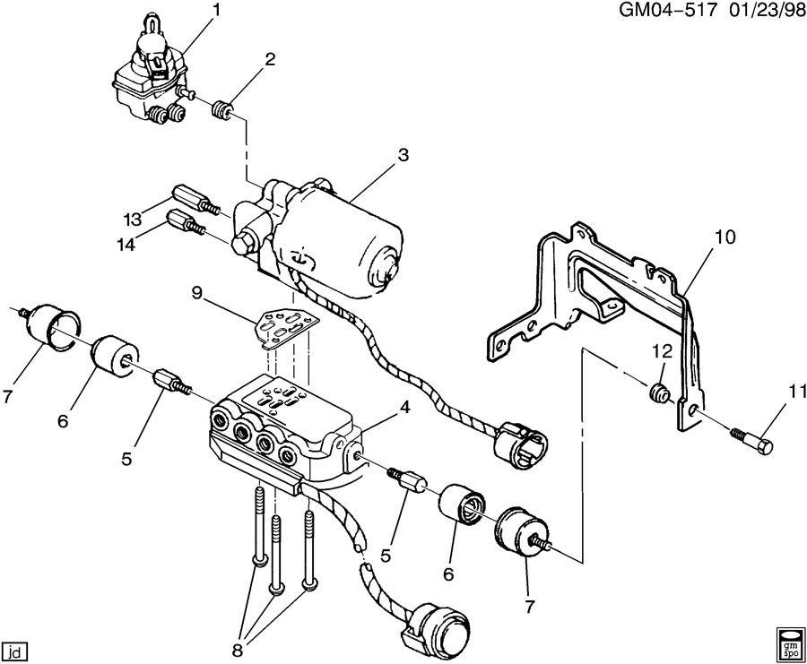 25653459 GM ANTILOCK BRAKE PRESSURE MODULATOR VALVE 92-93