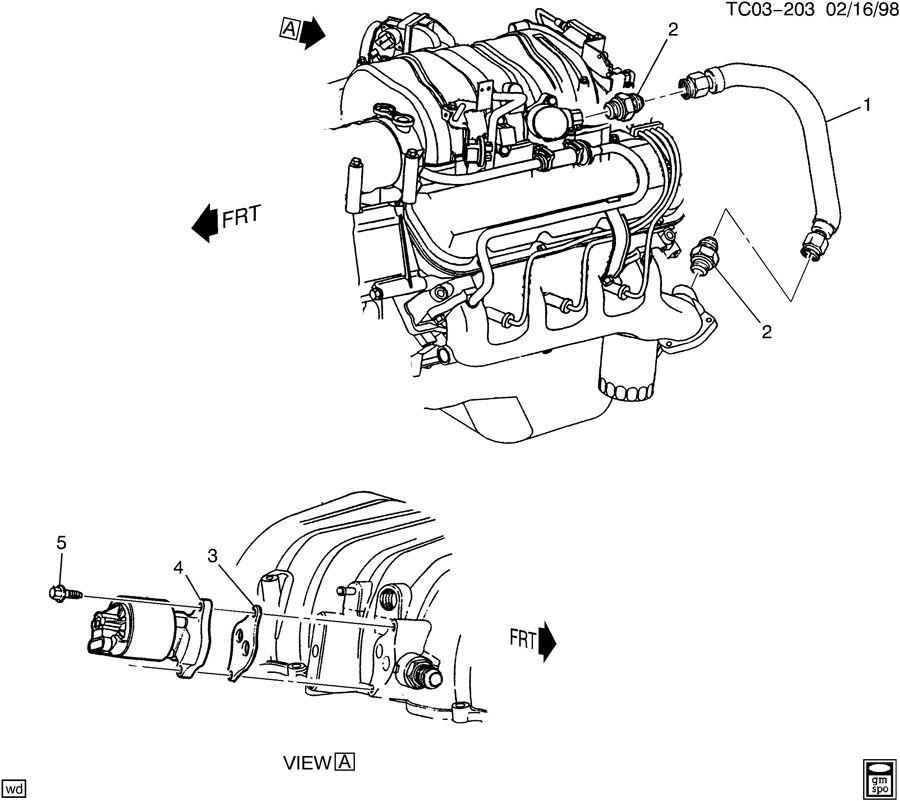Chevrolet K2500 Pipe. Emission system. Pipe, egr vlv