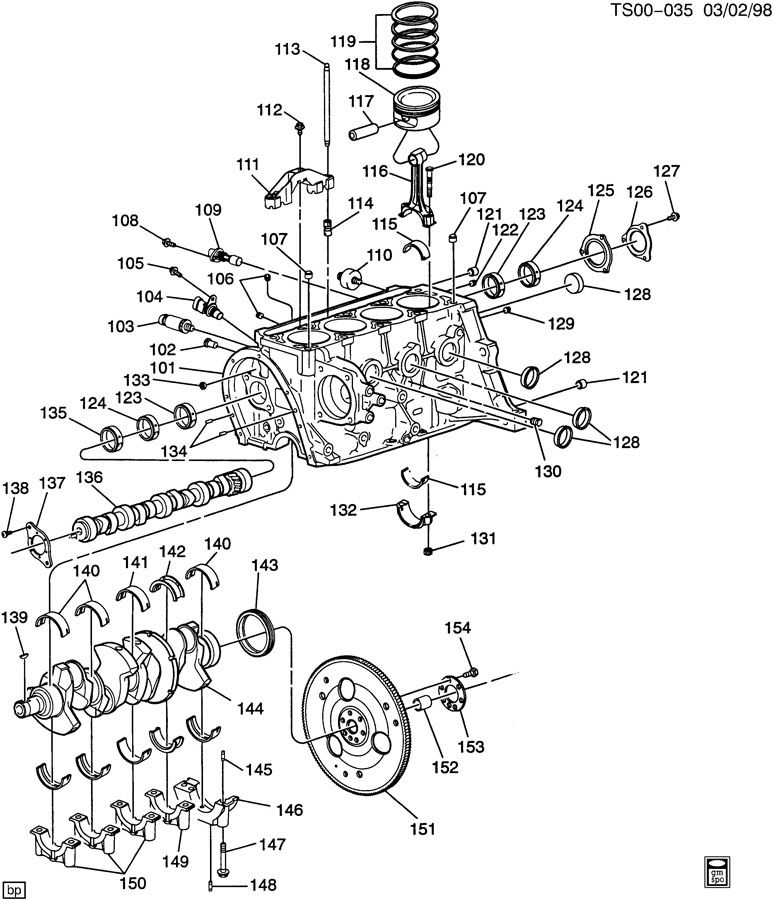 Chevrolet S10 Plate. Engine camshaft thrust. Plate, cm/shf