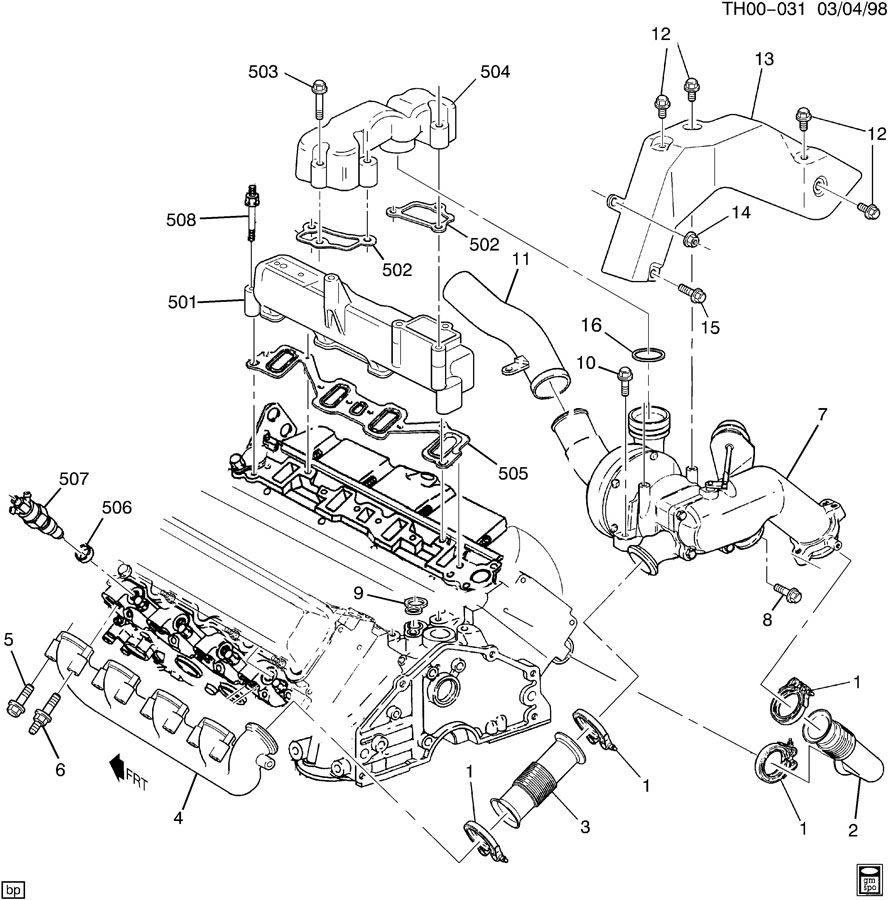 ENGINE ASM-6.5L V8 DIESEL PART 5 INTAKE & EXHAUST