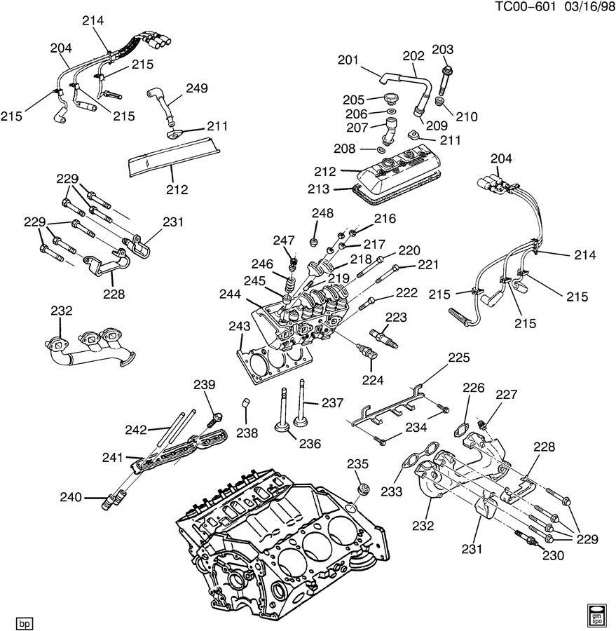 Chevrolet Silverado Manifold. Engine exhaust manifold