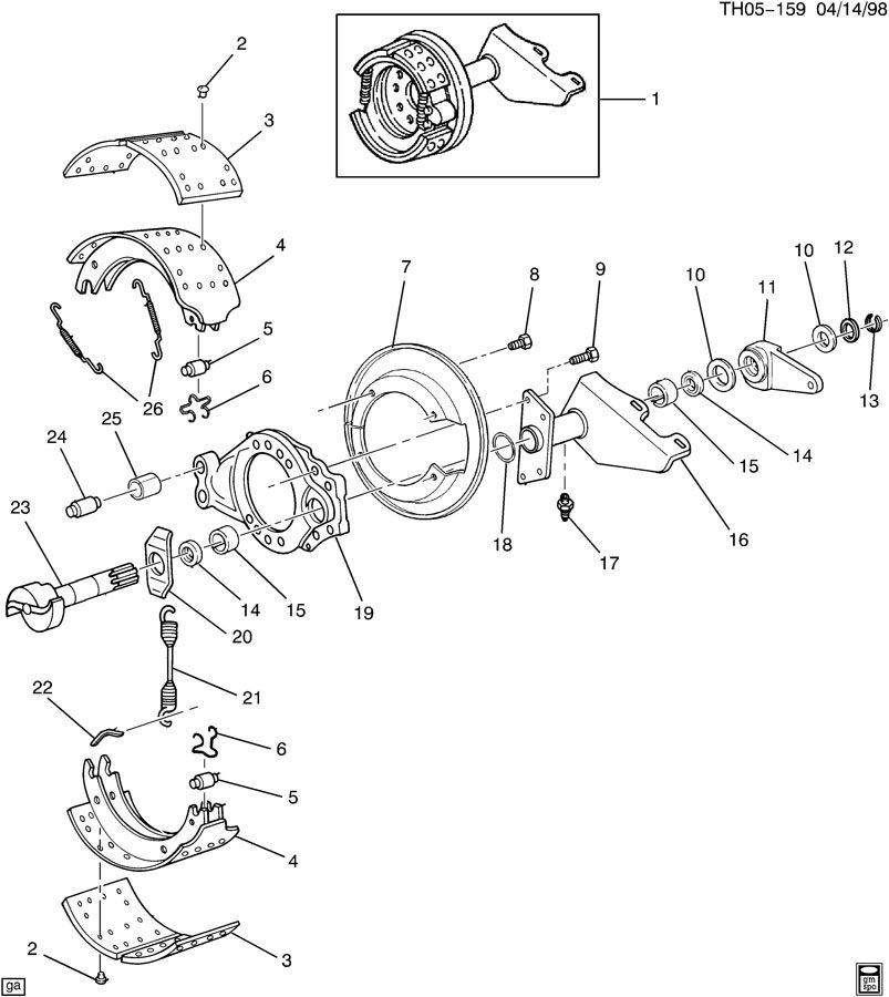 GMC C7500 Shoe. Brake. Shoe, frt brk(v)a-3222-z-2288