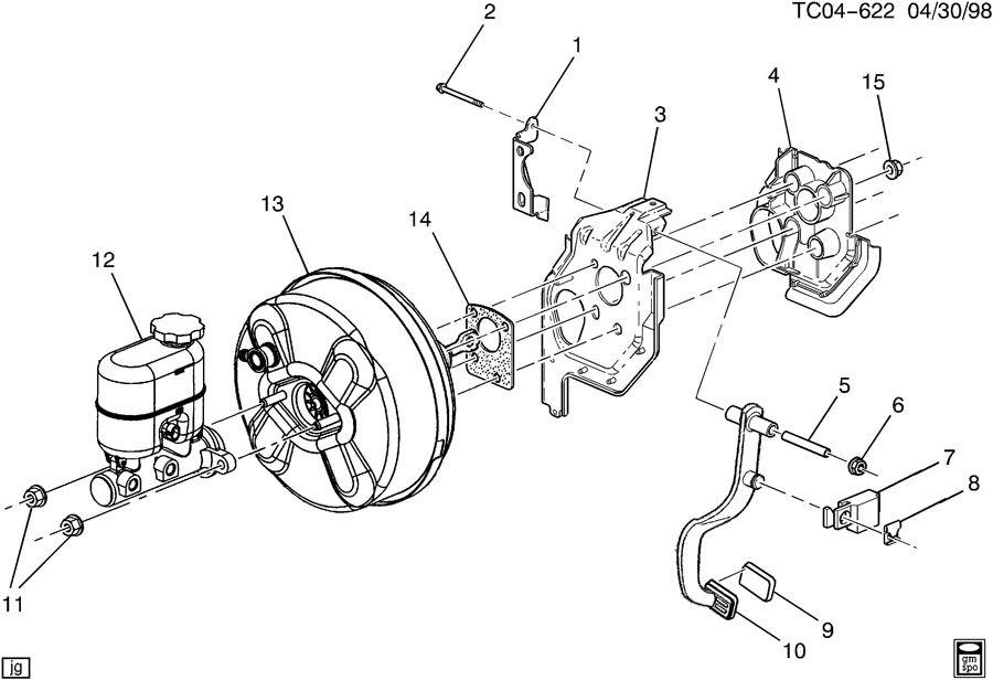 Chevrolet Silverado Retainer. Brake master cylinder