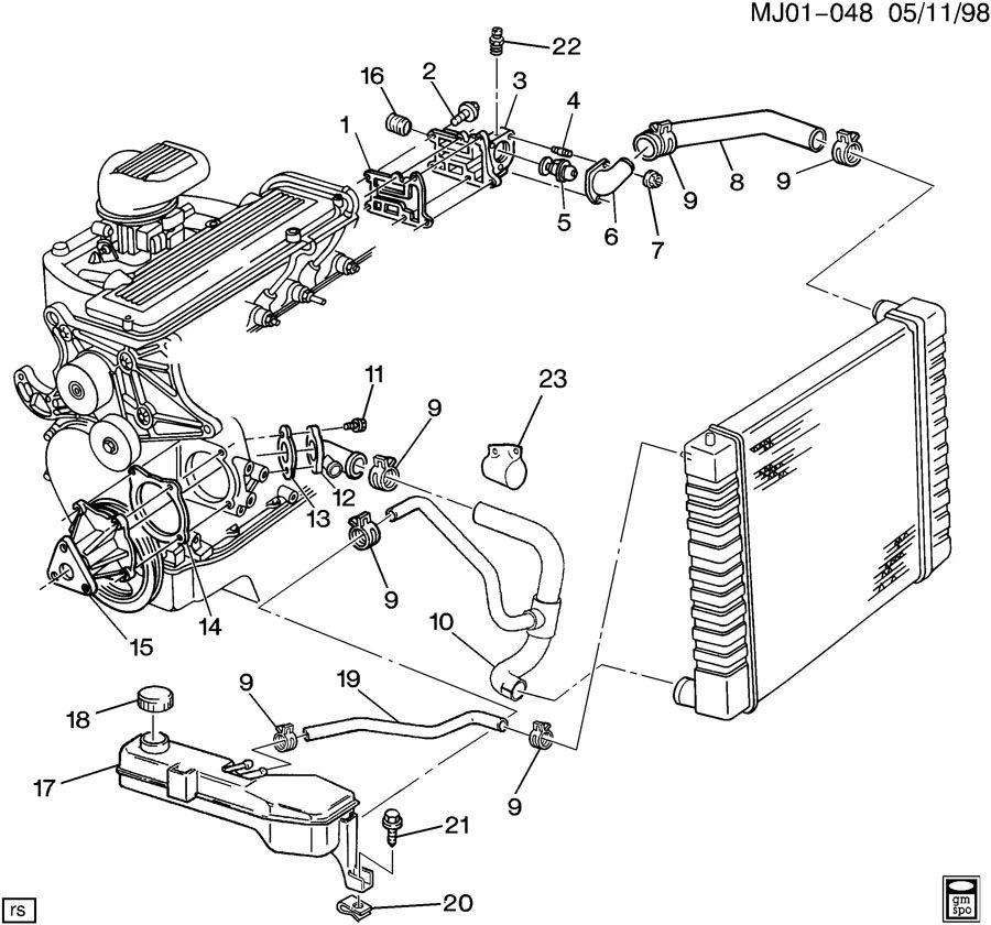 Chevrolet Cavalier Hose. Radiator outlet (lower). Hose