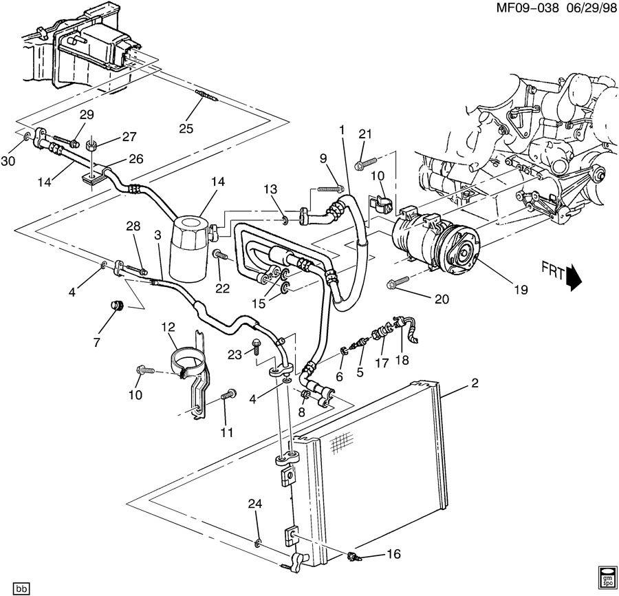 1998 Pontiac Firebird Trans Am A/C REFRIGERATION SYSTEM