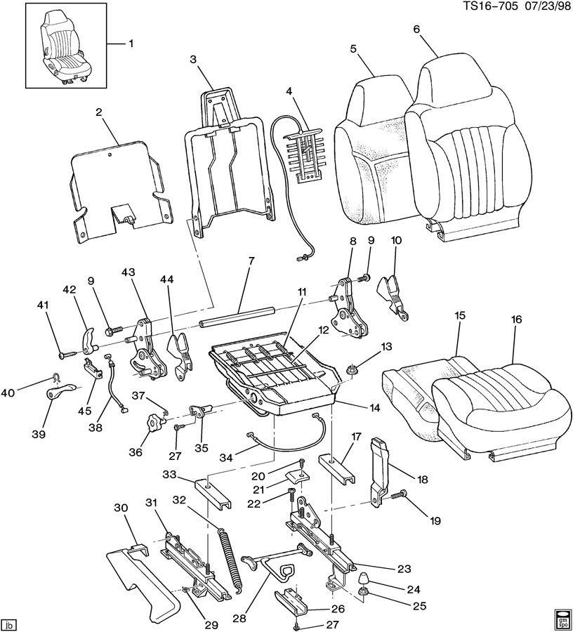 Chevrolet S10 Bracket. Seat adjuster/recliner. Bracket, p