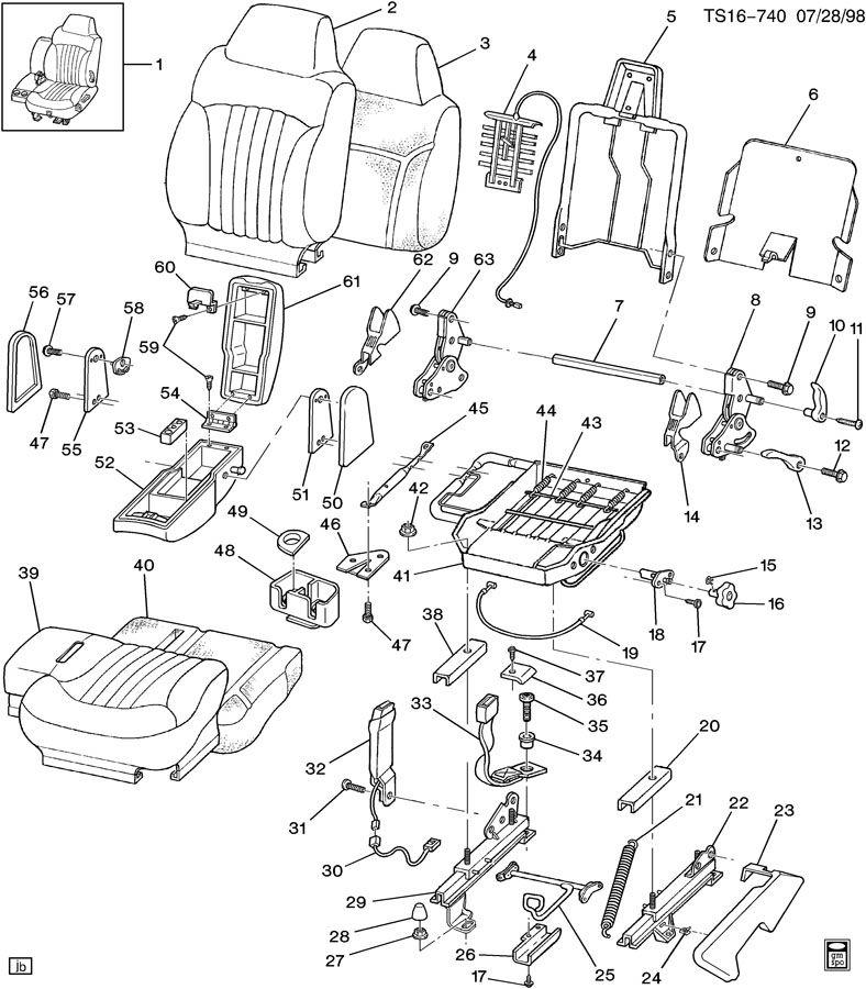 Chevrolet TRAILBLAZER Seat Belt Receptacle. STRAIGHT