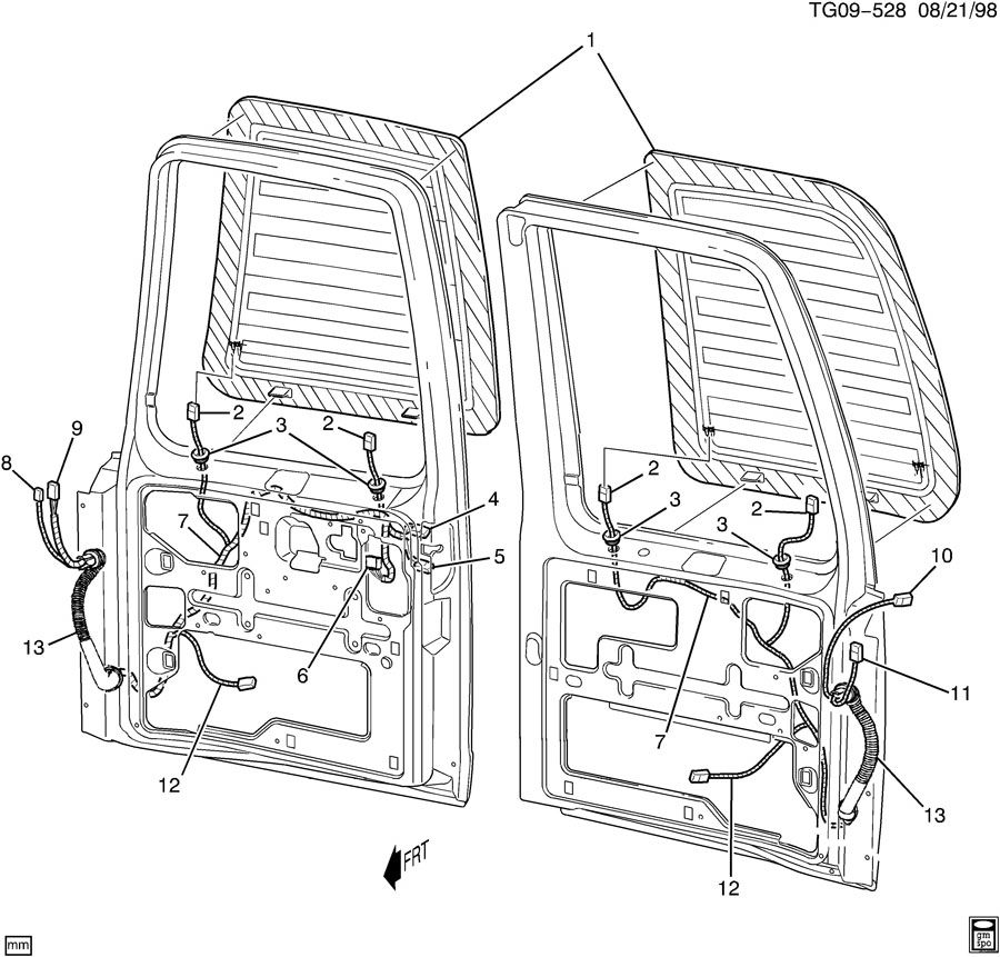 GMC SAVANA Window. Back/rear door window. Window, r/d