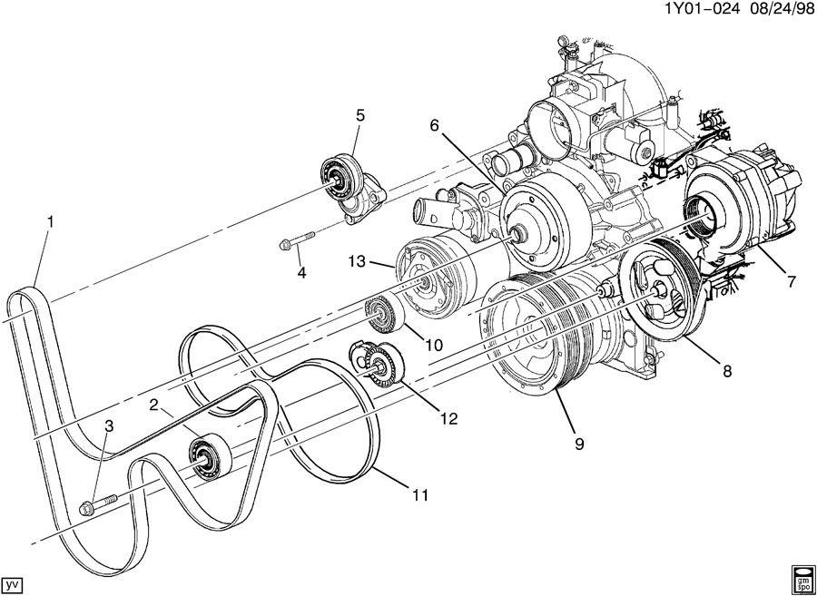2000 Chevrolet Corvette PULLEYS & BELTS/ACCESSORY DRIVE