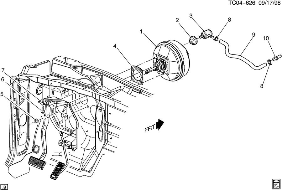 Chevrolet Silverado Fitting. Vacuum power brake. Fitting