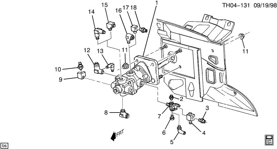 GMC C6500 Seal. Air brake compressor governor. Hydraulic