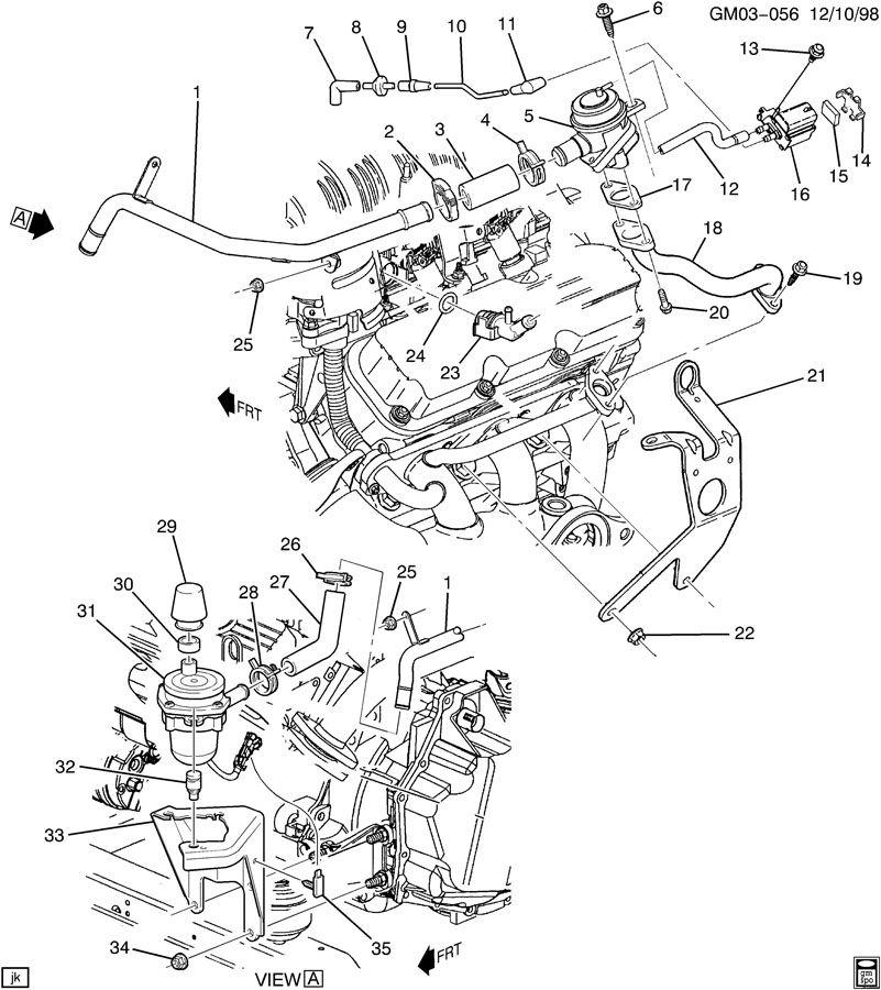 2001 Pontiac Bonneville A.I.R. PUMP & RELATED PARTS