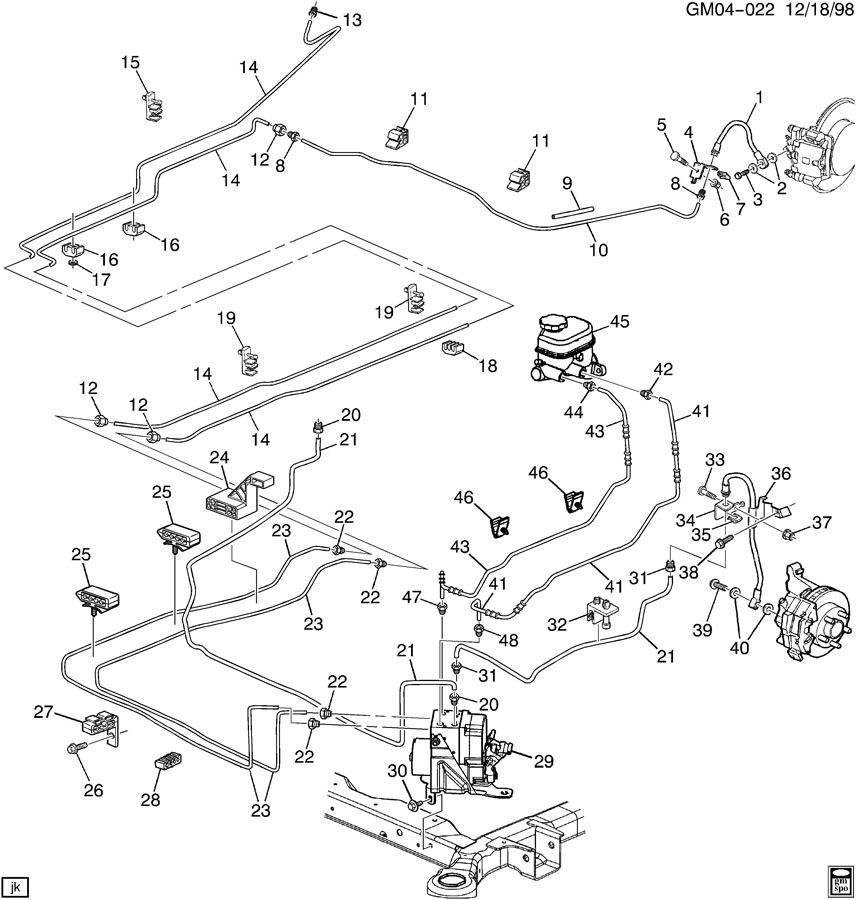 Oldsmobile Aurora Hydraulic Brake. GROMMET. INSULATOR