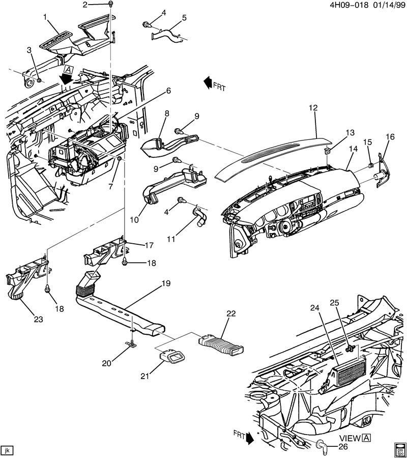 Buick Lesabre Duct. Air distributor. Duct, flr rr air otlt