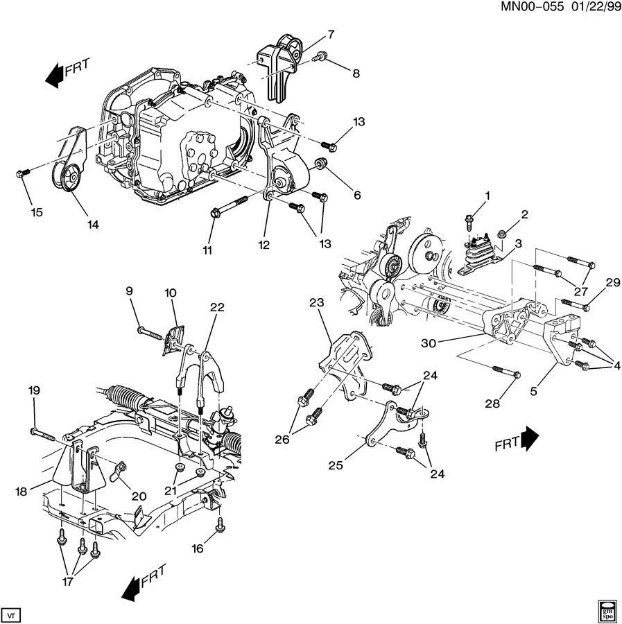 Chevrolet Malibu ENGINE & TRANSMISSION MOUNTING-V6
