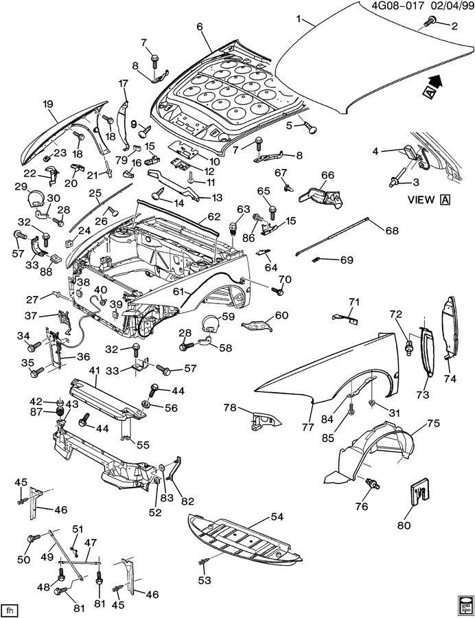 1993 Oldsmobile 88 SHEET METAL/FRONT END